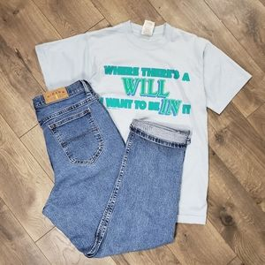 Vintage 90's Single Stitch Funny Saying Tshirt